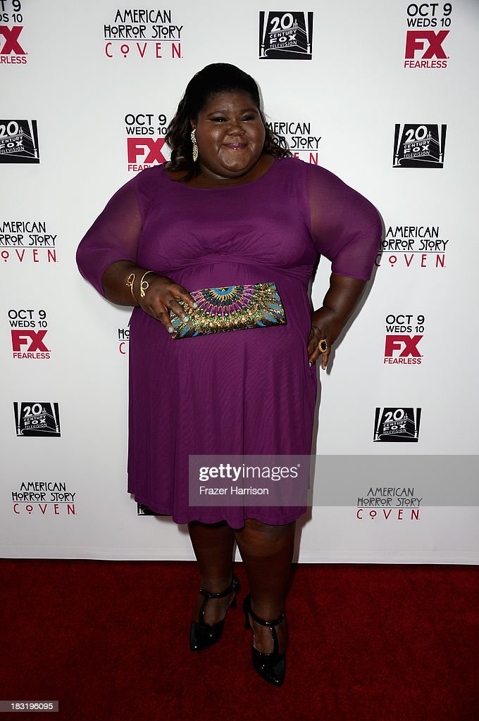 Actress Gabourey Sidibe arrives at the premiere of FX's 'American Horror Story: Coven' at Pacific Design Center on October 5, 2013 in West Hollywood, California.