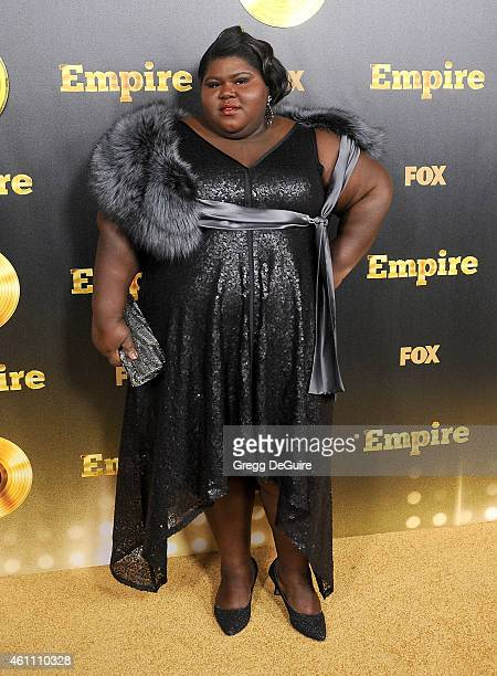 Actress Gabourey Sidibe arrives at the red carpet premiere of 'Empire' at ArcLight Cinemas Cinerama Dome on January 6 2015 in Hollywood California
