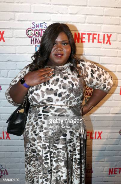 Actress Gabourey Sidibe attends Netflix Original Series 'She''s Gotta Have It' Premiere and After Party at BAM Rose Center on November 11 2017 in...