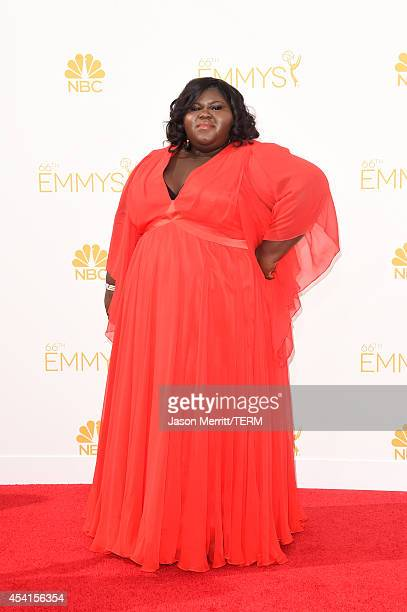 Actress Gabourey Sidibe attends the 66th Annual Primetime Emmy Awards held at Nokia Theatre LA Live on August 25 2014 in Los Angeles California
