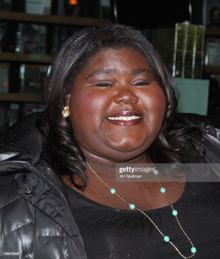 Actress Gabourey Sidibe attends The Cinema Society and Artistry screening of 'Warm Bodies' at Landmark's Sunshine Cinema on January 25, 2013 in New York City.