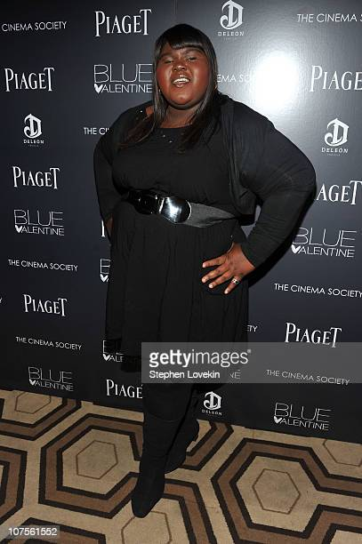 Actress Gabourey Sidibe attends the Cinema Society Piaget screening of 'Blue Valentine' at theTribeca Grand Hotel on December 13 2010 in New York City