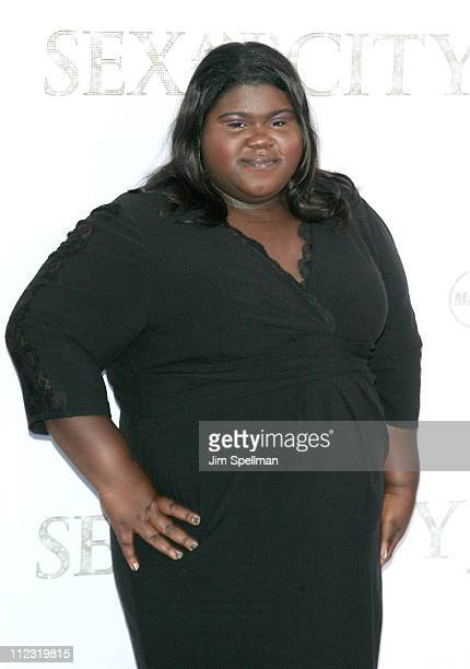 Actress Gabourey Sidibe attends the premiere of 'Sex and the City 2' at Radio City Music Hall on May 24 2010 in New York City