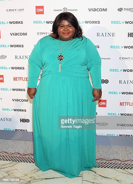 Actress Gabourey Sidibe attends the Reel Works Gala Benefit 2015 At Capitale on November 11 2015 in New York City
