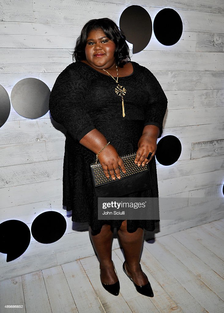 Actress Gabourey Sidibe attends the VIP sneak peek of the go90 Social Entertainment Platform at the Wallis Annenberg Center for the Performing Arts on September 24, 2015 in Los Angeles, California.