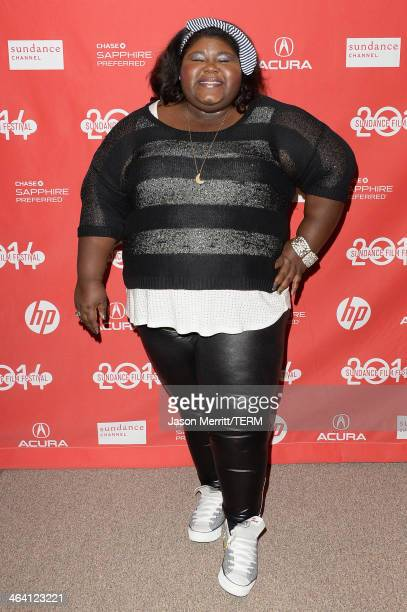 Actress Gabourey Sidibe attends the 'White Bird In A Blizzard' premiere during the 2014 Sundance Film Festival at Eccles Center Theatre on January 20...