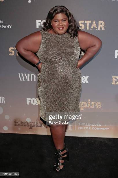 Actress Gabourey Sidiibe poses on the red carpet during the 'Empire' 'Star' Celebrate FOX's New Wednesday Night at One World Observatory on September...