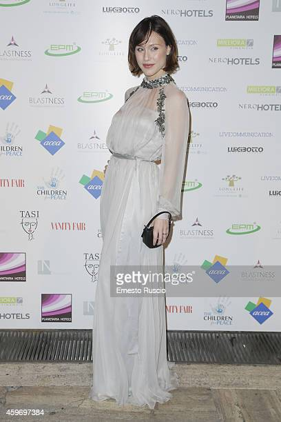 Actress Gabriella Pession attends the Children for Peace Benifit Gala red carpet at Spazio Novecento on November 28 2014 in Rome Italy