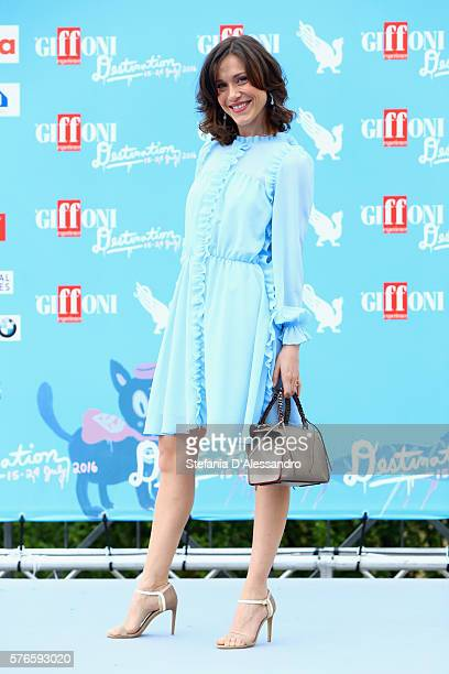 Actress Gabriella Pession attends the Giffoni Film Festival photocall on July 16 2016 in Giffoni Valle Piana Italy
