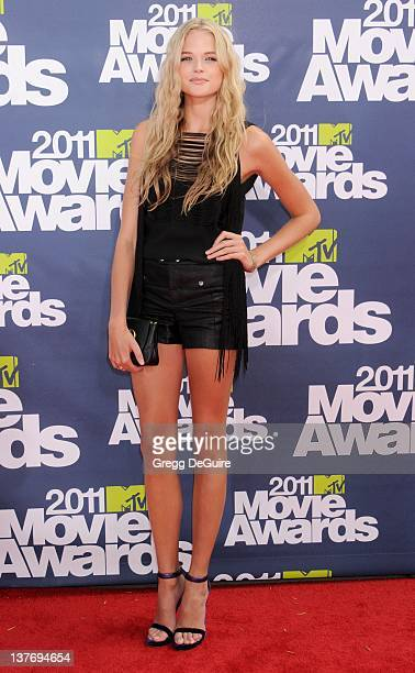 Actress Gabriella Wilde arrives at the 2011 MTV Movie Awards at the Gibson Amphitheatre on June 5 2011 in Universal City California