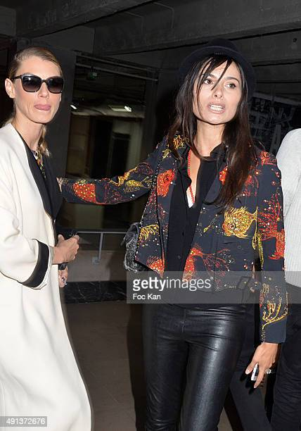 Actress Gabriella Wright and a guest attend the John Galliano show as part of the Paris Fashion Week Womenswear Spring/Summer 2016 on October 4 2015...