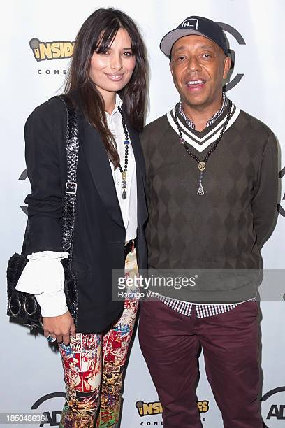 Actress Gabriella Wright and Russell Simmons attend the Grand Opening of Russell Simmons's new comedy club Inside Jokes at Chinese 6 Theatres on...