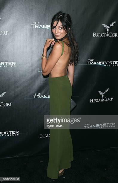 Actress Gabriella Wright arrives at the EuroaCorp's 'The Transporter Refueled' held at the The Playboy Mansion on August 25 2015 in Los Angeles...