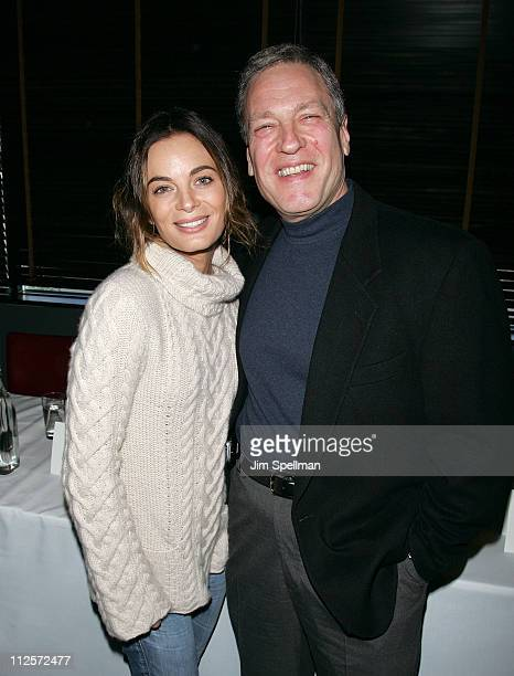 Actress Gabrielle Anwar and Movie Producer Anthony Falco attends the 2008 Hoboken International Film Festival Press Conference at the Harbor Bar and...