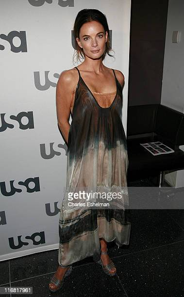Actress Gabrielle Anwar attends the 2008 USA Network UpFront at The Modern on March 26 2008 in New York City