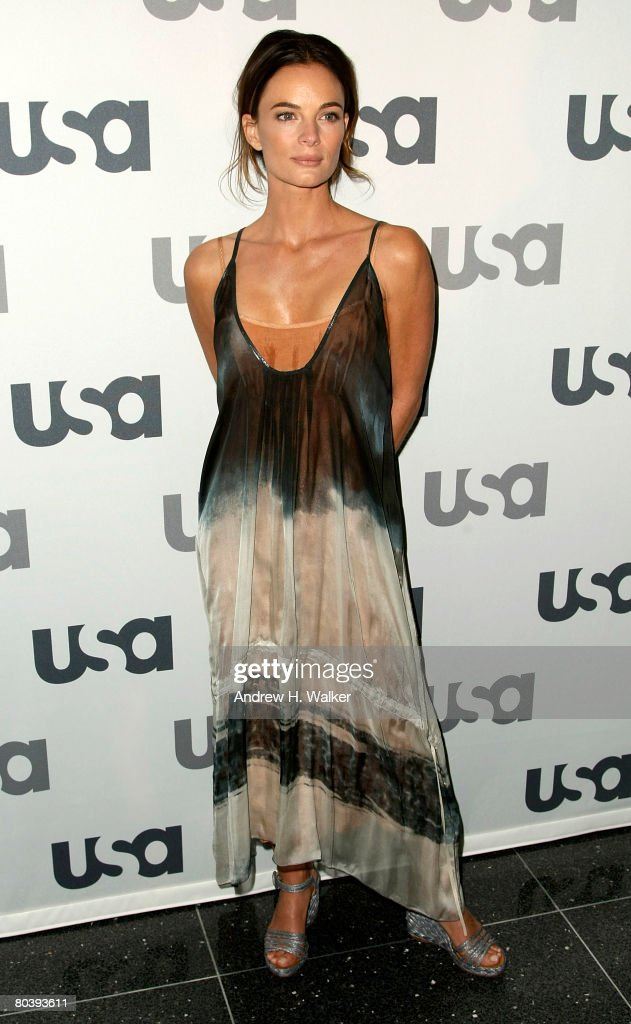 Actress Gabrielle Anwar attends the USA Network Upfront at The Modern on March 26 2008 in New York City
