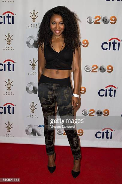 Actress Gabrielle Dennis attends Citi And OK TV Host GRAMMY viewing party at The Grove on February 15 2016 in Los Angeles California