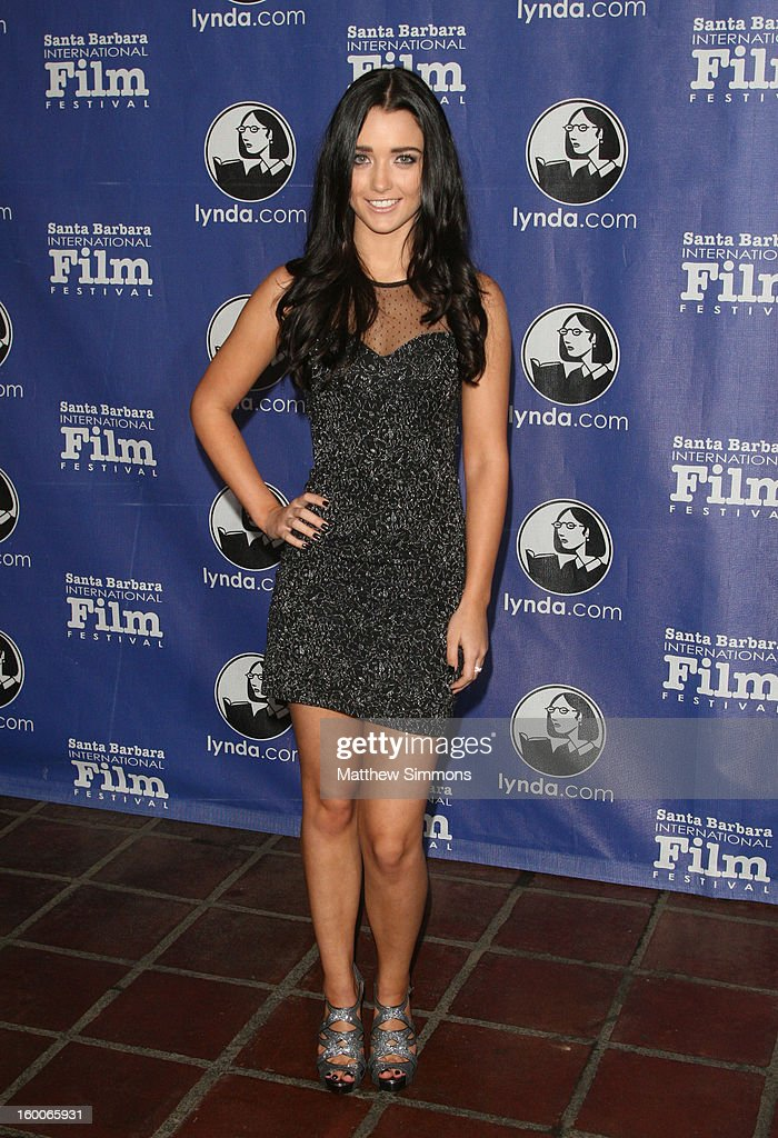 Actress Gabrielle Giguere attends the opening night screening of 'Disconnect' at the28th Santa Barbara International Film Festival on January 24 2013...