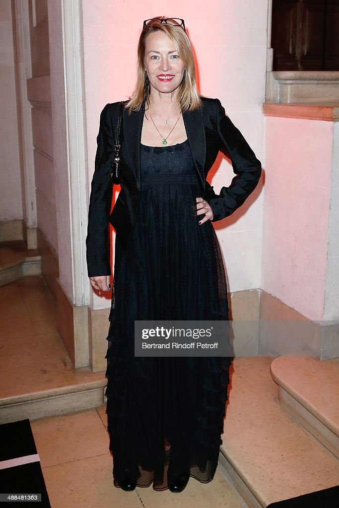 Actress Gabrielle Lazure attends the Cocktail for 50 years of beauty and discovery of new fragrance 'Black Opium' of Yves Saint Laurent on May 6, 2014 in Paris, France.