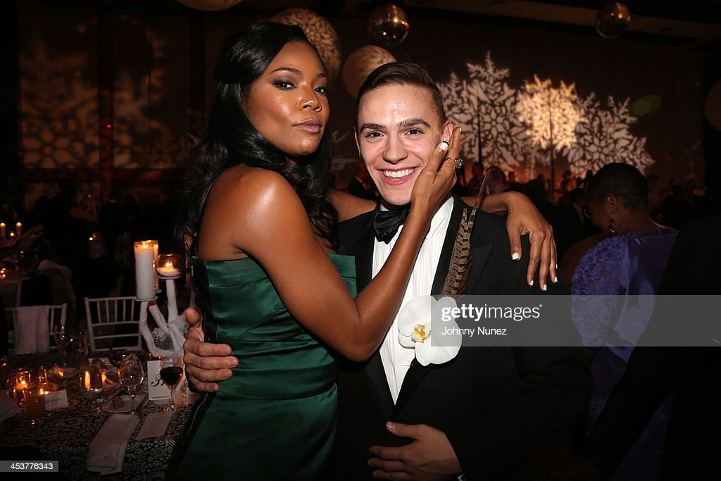 Actress <a gi-track='captionPersonalityLinkClicked' href=/galleries/search?phrase=Gabrielle+Union&family=editorial&specificpeople=202066 ng-click='$event.stopPropagation()'>Gabrielle Union</a> (L) and Alvin Ailey's Michael Francis McBride attends the 2013 Alvin Ailey American Dance Theater's opening night benefit gala at New York City Center on December 4, 2013 in New York City.