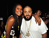 Actress Gabrielle Union and DJ Khaled pose during the Genius Talks sponsored by ATT during the 2016 BET Experience on June 25 2016 in Los Angeles...