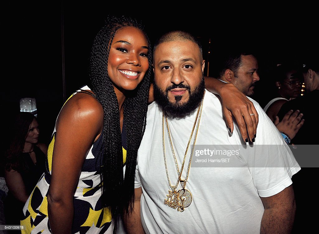 Actress <a gi-track='captionPersonalityLinkClicked' href=/galleries/search?phrase=Gabrielle+Union&family=editorial&specificpeople=202066 ng-click='$event.stopPropagation()'>Gabrielle Union</a> (L) and <a gi-track='captionPersonalityLinkClicked' href=/galleries/search?phrase=DJ+Khaled&family=editorial&specificpeople=577862 ng-click='$event.stopPropagation()'>DJ Khaled</a> pose during the Genius Talks sponsored by AT&T during the 2016 BET Experience on June 25, 2016 in Los Angeles, California.