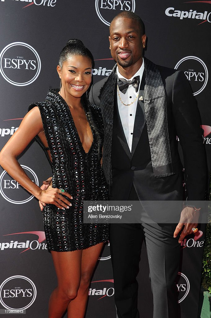 Actress Gabrielle Union and NBA player Dwyane Wade arrive at the 2013 ESPY Awards at Nokia Theatre L.A. Live on July 17, 2013 in Los Angeles, California.