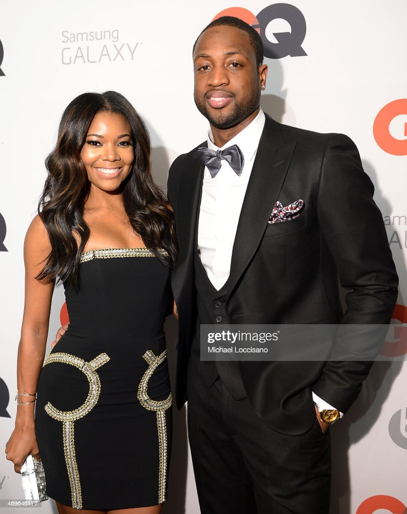 Actress <a gi-track='captionPersonalityLinkClicked' href=/galleries/search?phrase=Gabrielle+Union&family=editorial&specificpeople=202066 ng-click='$event.stopPropagation()'>Gabrielle Union</a> (L) and NBA player <a gi-track='captionPersonalityLinkClicked' href=/galleries/search?phrase=Dwyane+Wade&family=editorial&specificpeople=201481 ng-click='$event.stopPropagation()'>Dwyane Wade</a> attend GQ & LeBron James NBA All Star Party Sponsored By Samsung Galaxy And Beats at Ogden Museum's Patrick F. Taylor Library on February 15, 2014 in New Orleans, Louisiana.