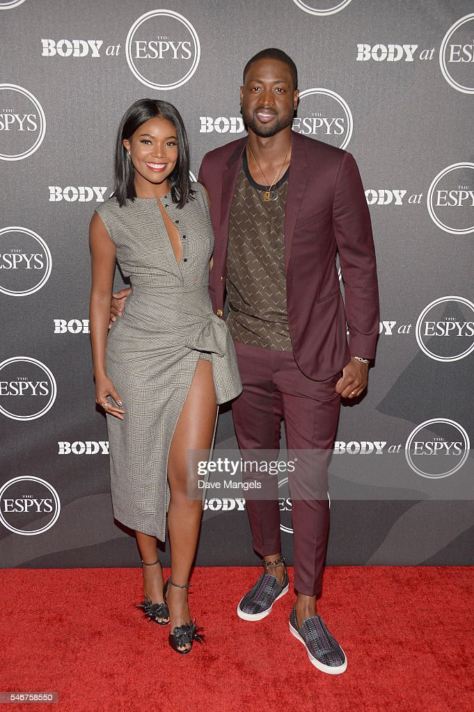 Actress Gabrielle Union (L) and NBA player Dwyane Wade attend the BODY At The ESPYs pre-party at Avalon Hollywood on July 12, 2016 in Los Angeles, California.