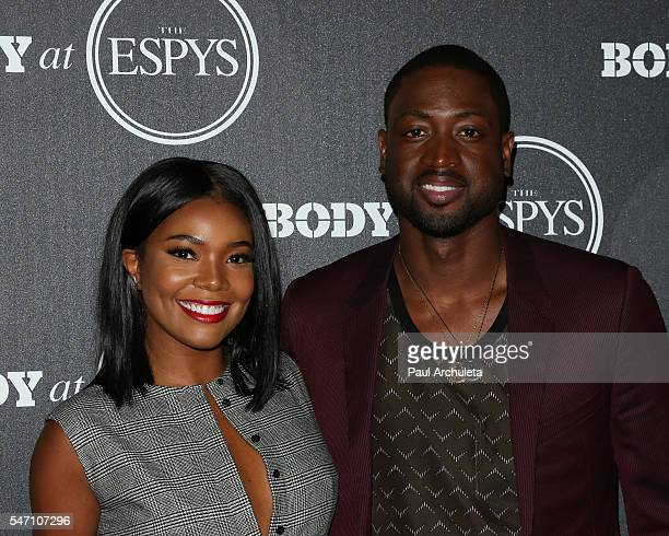 Actress Gabrielle Union and NBA Player Dwyane Wade attend the ESPN Magazine BODY issue party at Avalon Hollywood on July 12 2016 in Los Angeles...