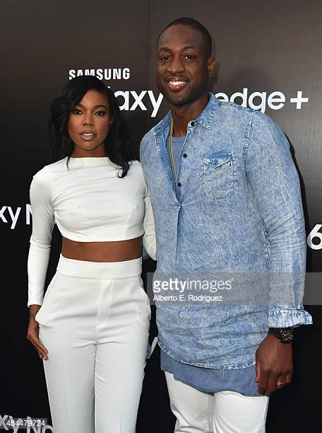Actress Gabrielle Union and NBA player Dwyane Wade attend the Samsung Galaxy S6 Edge Plus and Note 5 Launch party on August 18 2015 in West Hollywood...