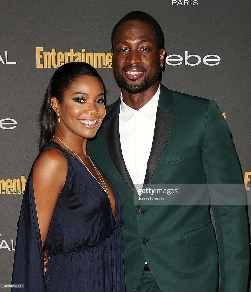 Actress <a gi-track='captionPersonalityLinkClicked' href=/galleries/search?phrase=Gabrielle+Union&family=editorial&specificpeople=202066 ng-click='$event.stopPropagation()'>Gabrielle Union</a> and NBA player <a gi-track='captionPersonalityLinkClicked' href=/galleries/search?phrase=Dwyane+Wade&family=editorial&specificpeople=201481 ng-click='$event.stopPropagation()'>Dwyane Wade</a> attend the Entertainment Weekly pre-Emmy party at Fig & Olive Melrose Place on September 20, 2013 in West Hollywood, California.