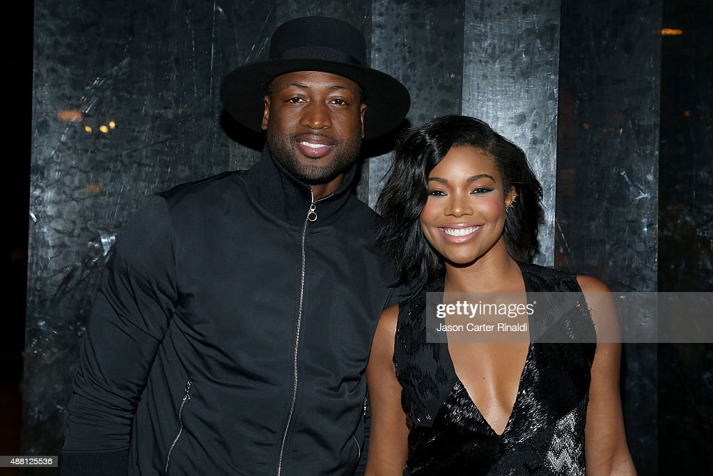 Actress <a gi-track='captionPersonalityLinkClicked' href=/galleries/search?phrase=Gabrielle+Union&family=editorial&specificpeople=202066 ng-click='$event.stopPropagation()'>Gabrielle Union</a> (R) and NBA player <a gi-track='captionPersonalityLinkClicked' href=/galleries/search?phrase=Dwyane+Wade&family=editorial&specificpeople=201481 ng-click='$event.stopPropagation()'>Dwyane Wade</a> (L) pose at Skylight at Moynihan Station during Spring 2016 New York Fashion Week: The Shows on September 13, 2015 in New York City.