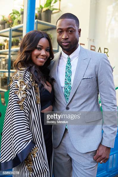 Actress Gabrielle Union and NBA Star Dwyane Wade during PopUp Store Event For The Tie Bar In New York City on June 9 2016 in New York New York