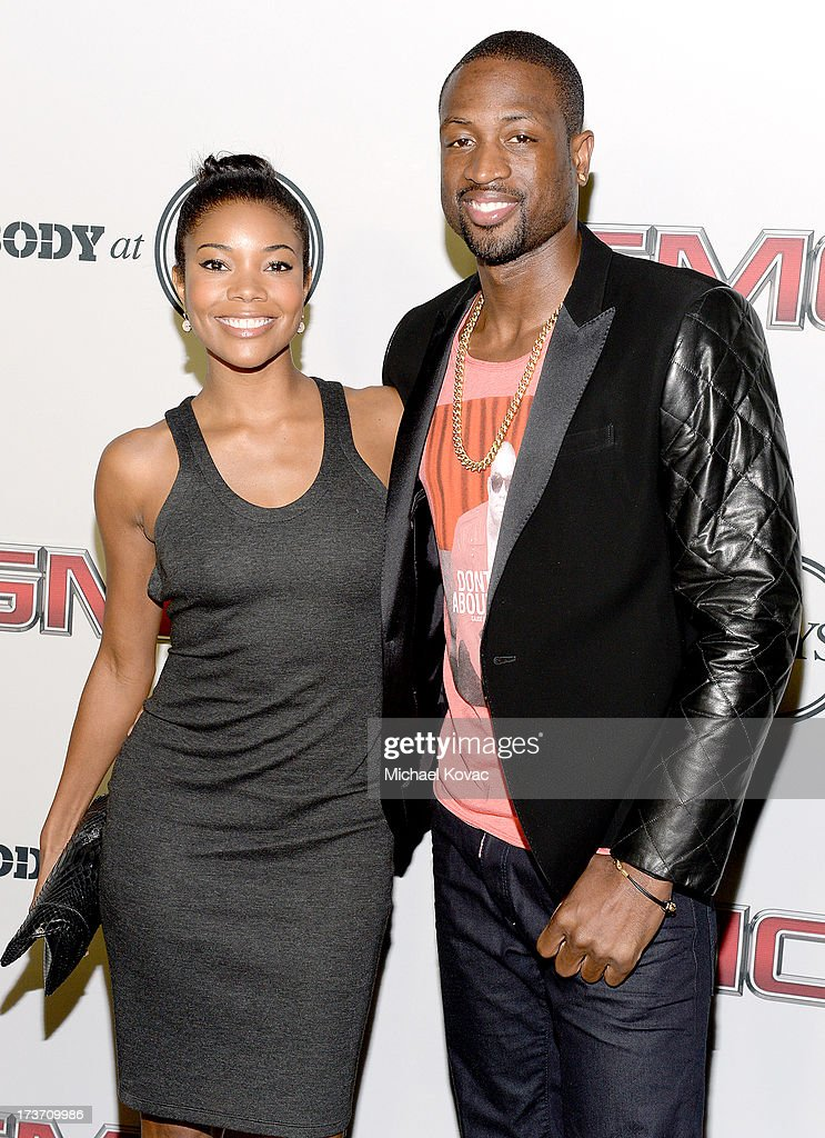 Actress Gabrielle Union (L) and Professional basketball player Dwyane Wade attend ESPN The Magazine 5th annual 'Body Issue' party at Lure on July 16, 2013 in Hollywood, California.