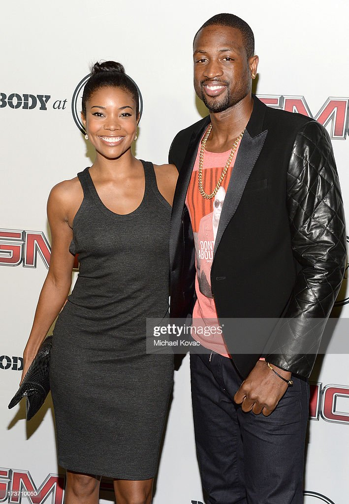Actress <a gi-track='captionPersonalityLinkClicked' href=/galleries/search?phrase=Gabrielle+Union&family=editorial&specificpeople=202066 ng-click='$event.stopPropagation()'>Gabrielle Union</a> (L) and Professional basketball player <a gi-track='captionPersonalityLinkClicked' href=/galleries/search?phrase=Dwyane+Wade&family=editorial&specificpeople=201481 ng-click='$event.stopPropagation()'>Dwyane Wade</a> attend ESPN The Magazine 5th annual 'Body Issue' party at Lure on July 16, 2013 in Hollywood, California.