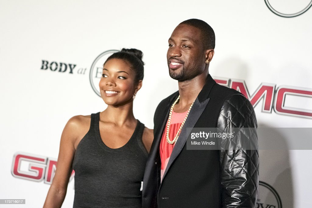 Actress <a gi-track='captionPersonalityLinkClicked' href=/galleries/search?phrase=Gabrielle+Union&family=editorial&specificpeople=202066 ng-click='$event.stopPropagation()'>Gabrielle Union</a> (L) and Professional basketball player <a gi-track='captionPersonalityLinkClicked' href=/galleries/search?phrase=Dwyane+Wade&family=editorial&specificpeople=201481 ng-click='$event.stopPropagation()'>Dwyane Wade</a> arrive at ESPN the Magazine's 'Body Issue' 5th annual ESPY's event at Lure on July 16, 2013 in Hollywood, California.