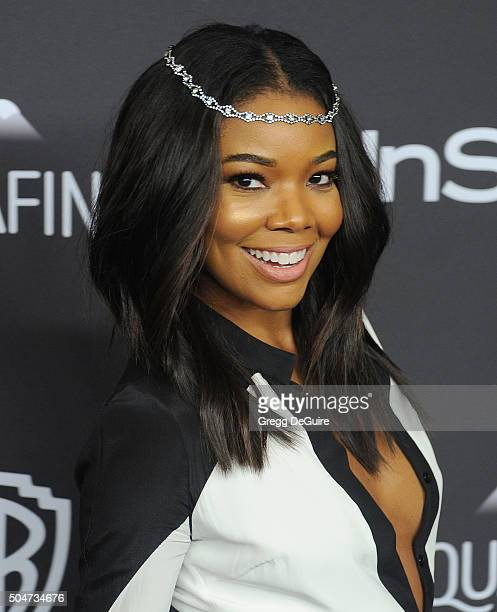 Actress Gabrielle Union arrives at the 2016 InStyle And Warner Bros 73rd Annual Golden Globe Awards PostParty at The Beverly Hilton Hotel on January...