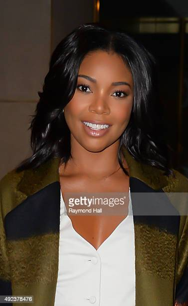 Actress Gabrielle Union arrives to NBC's 'Today on October 12 2015 in New York City