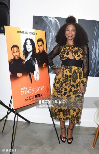 Actress Gabrielle Union attends Being Mary Jane LA Press Event at Eric Buterbaugh Floral on July 12 2017 in West Hollywood California
