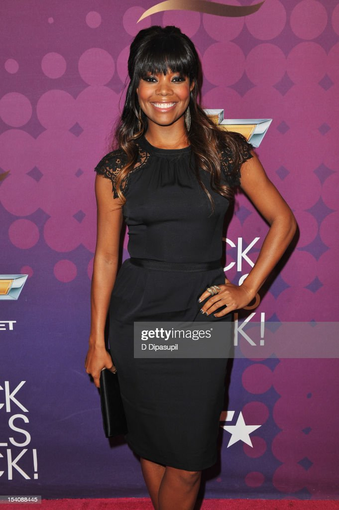 Actress <a gi-track='captionPersonalityLinkClicked' href=/galleries/search?phrase=Gabrielle+Union&family=editorial&specificpeople=202066 ng-click='$event.stopPropagation()'>Gabrielle Union</a> attends BET's Black Girls Rock 2012 CHEVY Red Carpet at Paradise Theater on October 13, 2012 in New York City.