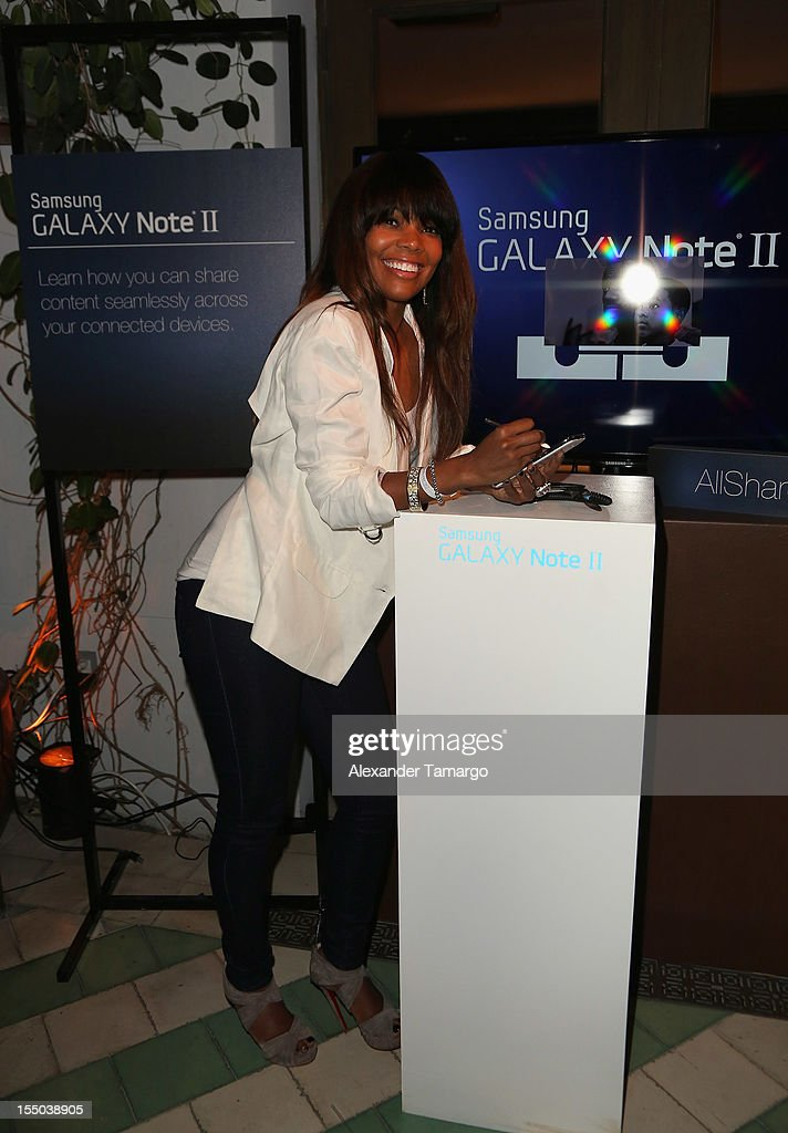 Actress <a gi-track='captionPersonalityLinkClicked' href=/galleries/search?phrase=Gabrielle+Union&family=editorial&specificpeople=202066 ng-click='$event.stopPropagation()'>Gabrielle Union</a> attends Samsung Galaxy Note II Presents: The Next Big Thing & The Ring at Soho Beach House Miami on October 30, 2012 in Miami Beach, Florida.