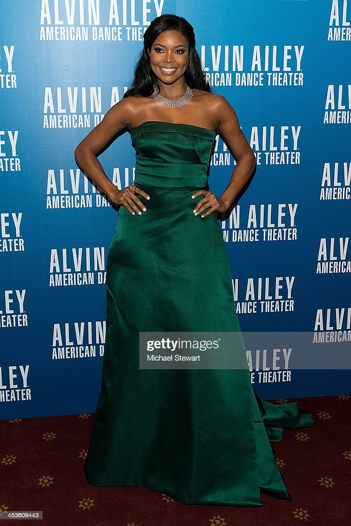 Actress <a gi-track='captionPersonalityLinkClicked' href=/galleries/search?phrase=Gabrielle+Union&family=editorial&specificpeople=202066 ng-click='$event.stopPropagation()'>Gabrielle Union</a> attends the 2013 Alvin Ailey American Dance Theater's opening night benefit gala at New York City Center on December 4, 2013 in New York City.