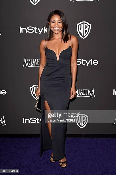 Actress Gabrielle Union attends the 2015 InStyle And Warner Bros 72nd Annual Golden Globe Awards PostParty at The Beverly Hilton Hotel on January 11...