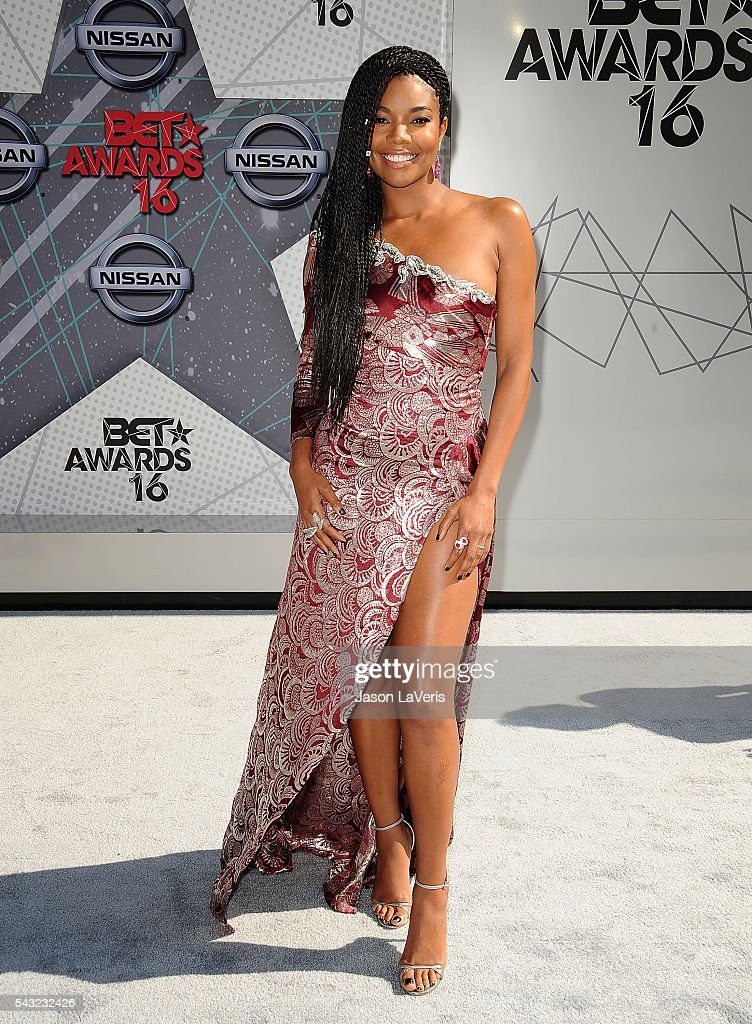 Actress <a gi-track='captionPersonalityLinkClicked' href=/galleries/search?phrase=Gabrielle+Union&family=editorial&specificpeople=202066 ng-click='$event.stopPropagation()'>Gabrielle Union</a> attends the 2016 BET Awards at Microsoft Theater on June 26, 2016 in Los Angeles, California.