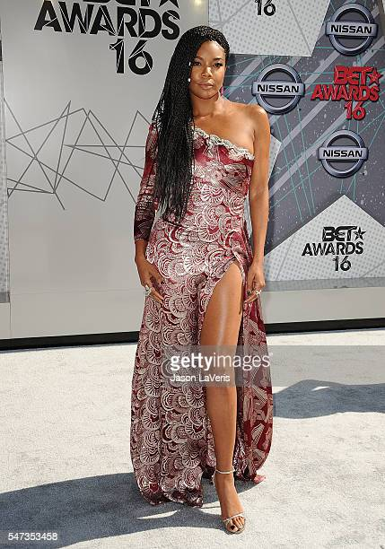 Actress Gabrielle Union attends the 2016 BET Awards at Microsoft Theater on June 26 2016 in Los Angeles California
