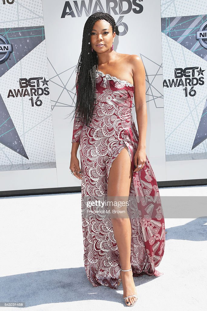 Actress <a gi-track='captionPersonalityLinkClicked' href=/galleries/search?phrase=Gabrielle+Union&family=editorial&specificpeople=202066 ng-click='$event.stopPropagation()'>Gabrielle Union</a> attends the 2016 BET Awards at the Microsoft Theater on June 26, 2016 in Los Angeles, California.