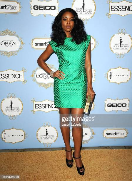 Actress Gabrielle Union attends the 6th annual ESSENCE Black Women In Hollywood awards luncheon at Beverly Hills Hotel on February 21 2013 in Beverly...