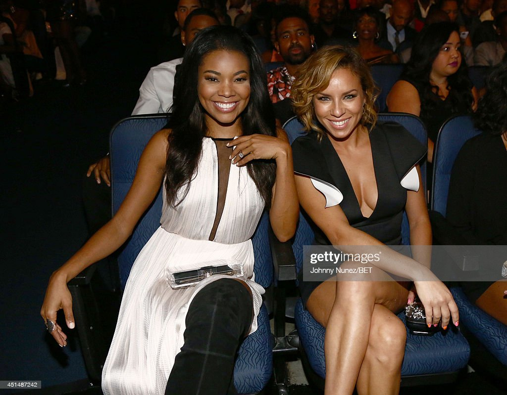 Actress Gabrielle Union (L) attends the BET AWARDS '14 at Nokia Theatre L.A. LIVE on June 29, 2014 in Los Angeles, California.