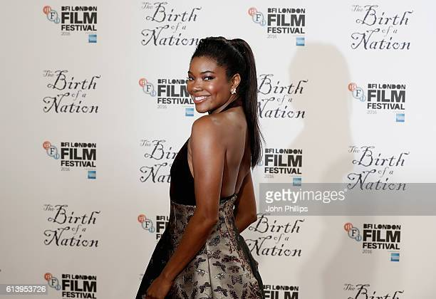 Actress Gabrielle Union attends 'The Birth Of A Nation' International Premiere screening during the 60th BFI London Film Festival at Odeon Leicester...